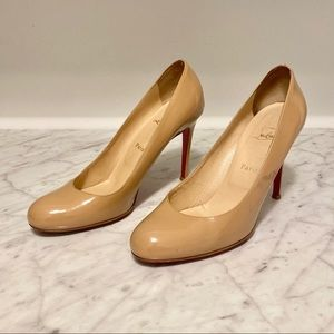 ***SOLD*** Christian Louboutin Nude Patent heels